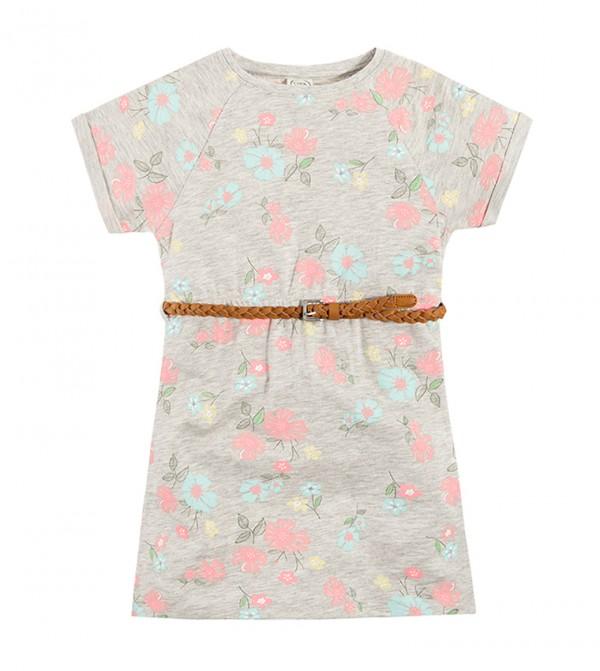 Dress S/S-6542881-Grey Melange