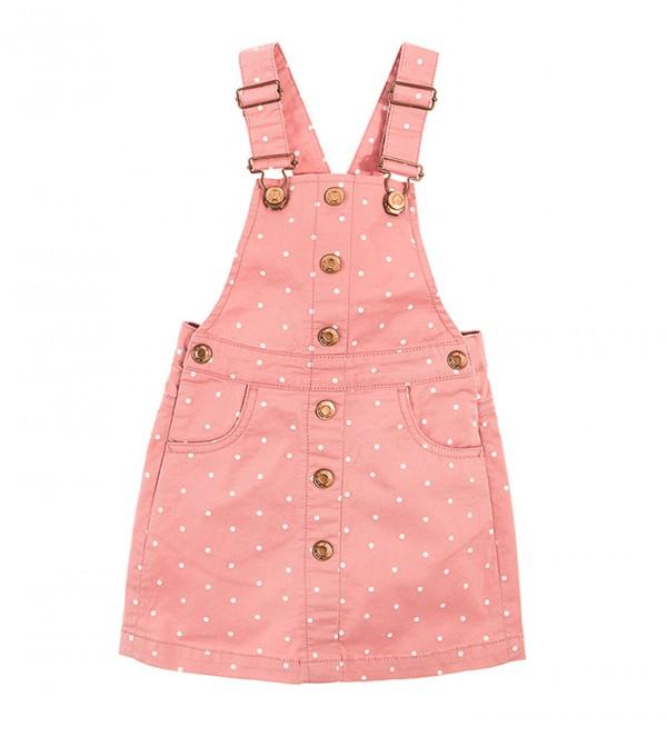 Dungaree Skirt-Pink