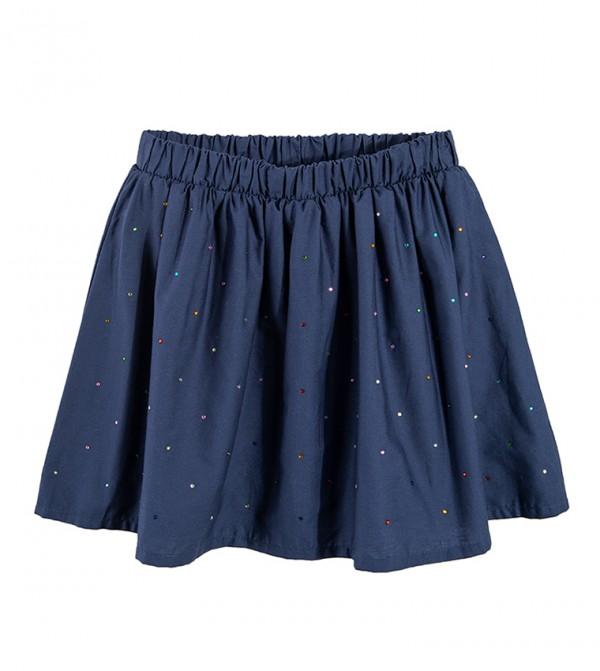Skirt-Navy Blue
