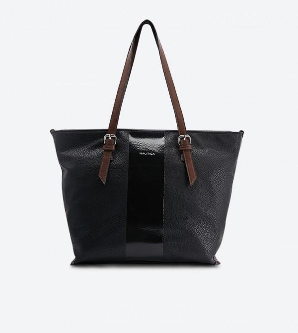 حقيبة سيورثي بحمالة مزدوجة لون أسود