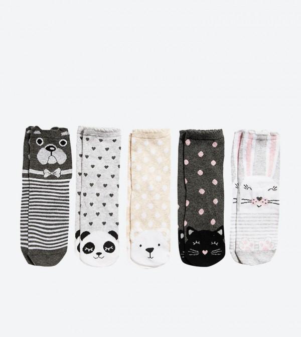 Printed Socks Set (5 Pcs) - Multi