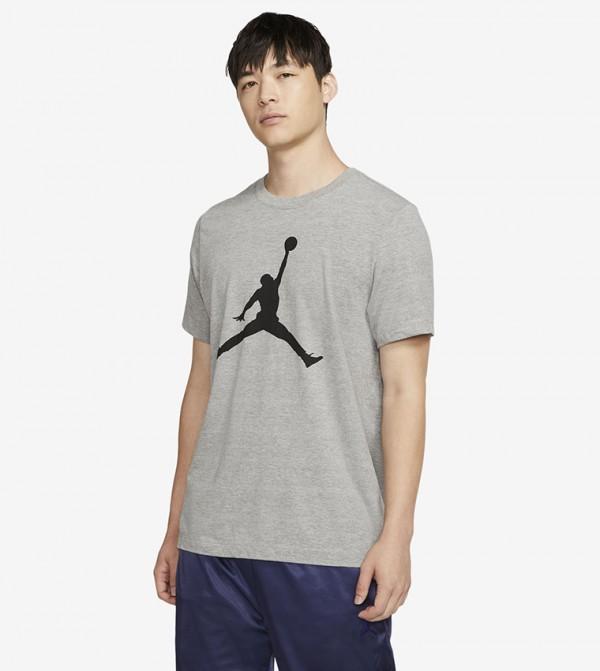Logo Print T-shirt - Grey