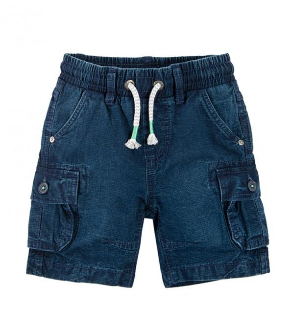 Dungaree Shorts-Denim