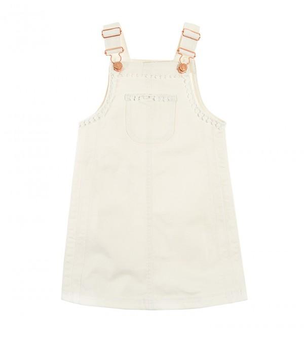 Dungaree Skirt-White