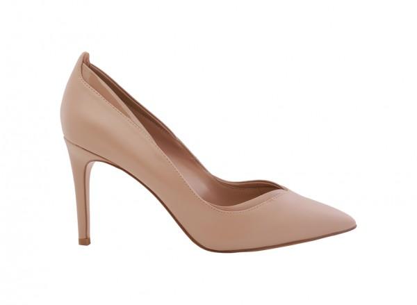 حذاء زهري بكعب عالي