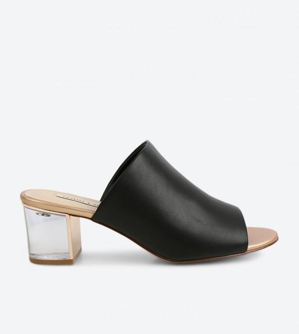 808b9a43891 Charles & Keith Lucite Heel Mule Sandals - Black