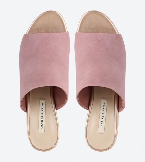 90d498e4ee9 Lucite Heel Mule Sandals - Pink