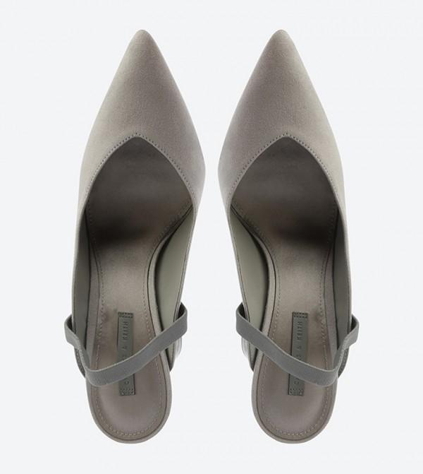 6c6756974c0 Lucite Sculptural Heel Slingback Sandals - Grey CK1-60361110