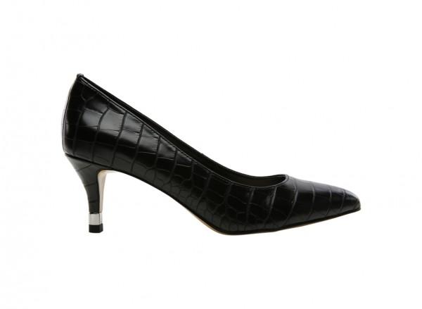 Black Mid-Heel