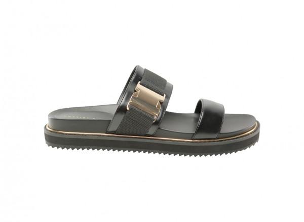 حذاء أسود مسطح