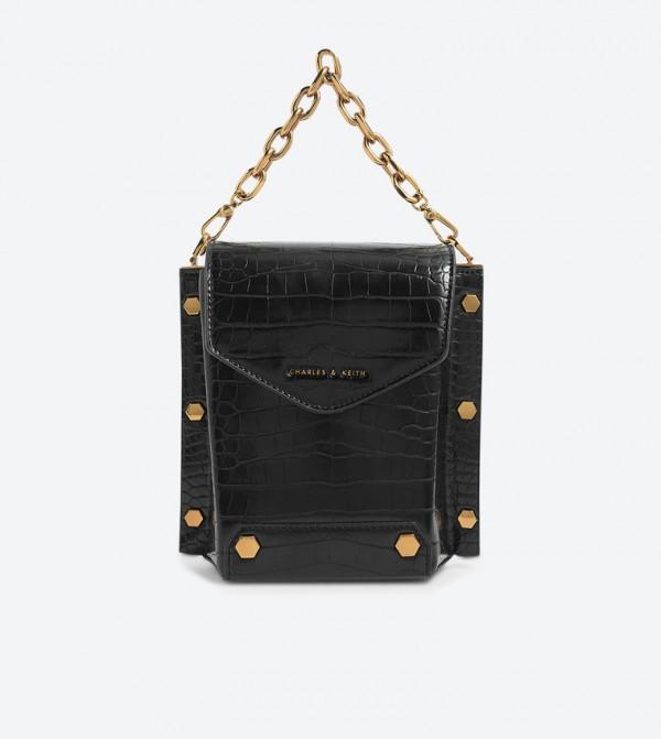 حقيبة بحمالة طويلة لون أسود