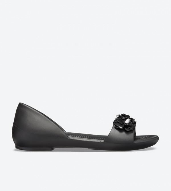 Women's Crocs Lina Flower D'Orsay Flat