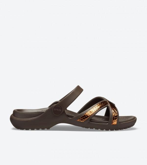 Women's Meleen Metallic Texture Cross-Band Sandal