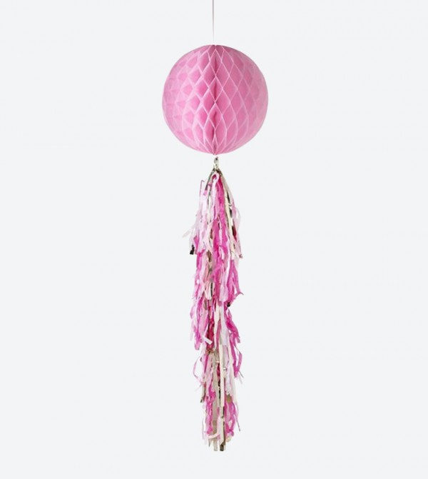Honeycomb Decorative Tassel - Pink