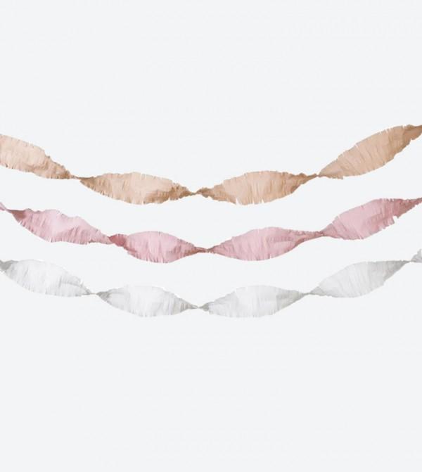 زينة ورقية للحفلات (3 قطع) متعددة الألوان