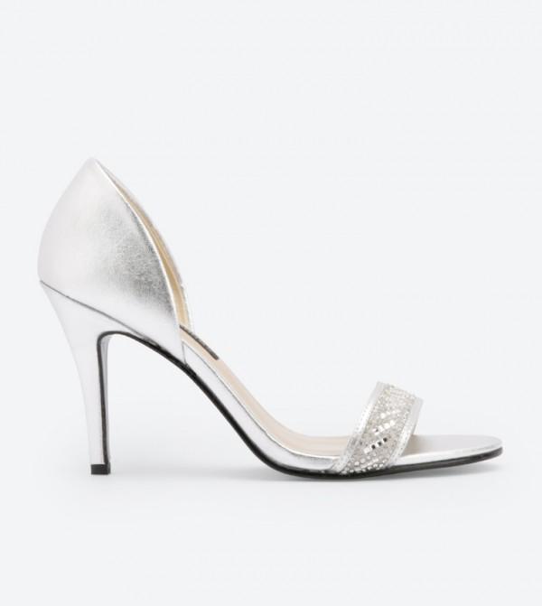 Illusion High Heel Sandals - Silver DSW