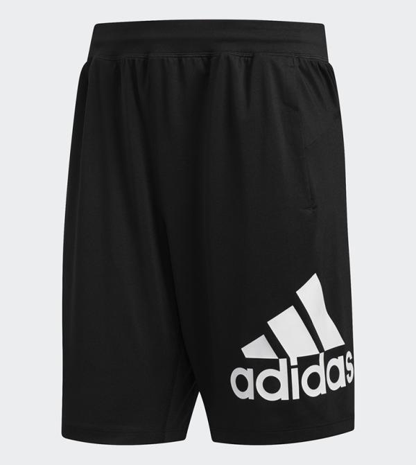 Logo Printed 4K Sport Shorts - Black