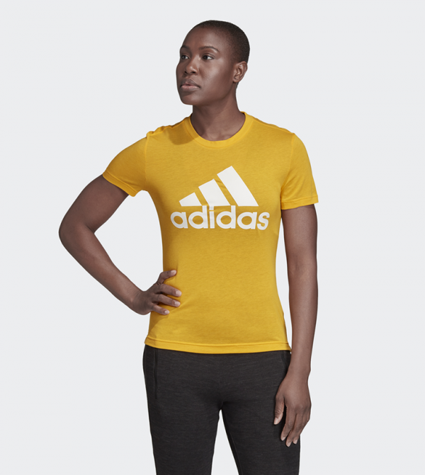 Must Haves Badge of Sport Tee-Gold