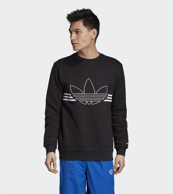 Outline Crewneck Sweatshirt Black