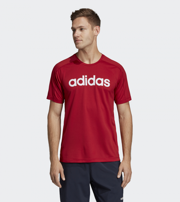 Design 2 Move Climacool Logo Tee - Red