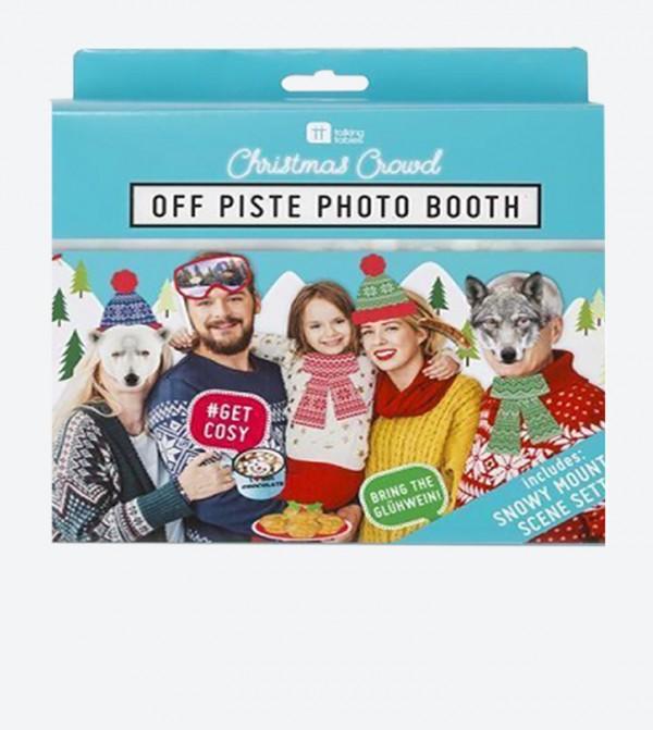 Christmas Entertainment Off Piste Photo Booth Set 20 Pcs Multi