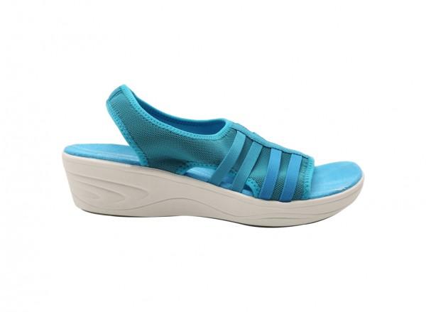 Mistyday Blue Mid Heels
