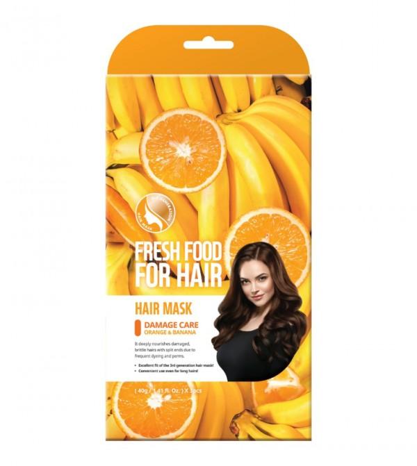 ماسك للشعر فارم سكين فريش فود 40H- برتقال وموز