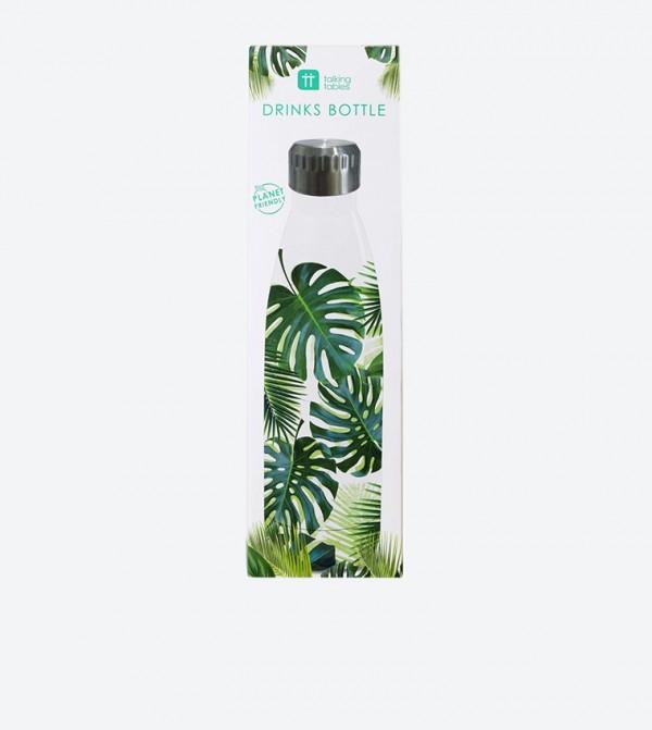 Tropical Fiesta Palm Printed Bottle - White