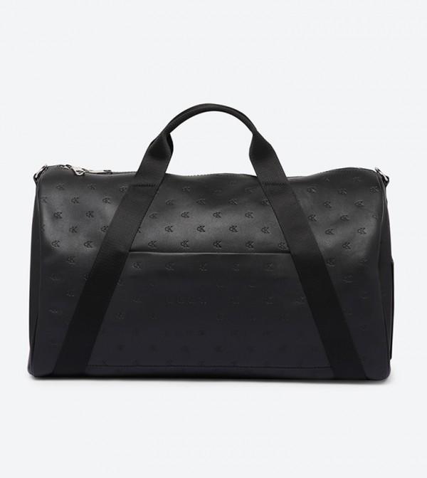 حقيبة دفل بمقبض علوي مزدوج وسحاب للإغلاق لون أسود