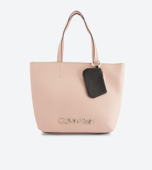 Top Zip Closure Dual Handle Must Med Shopper Bag Beige