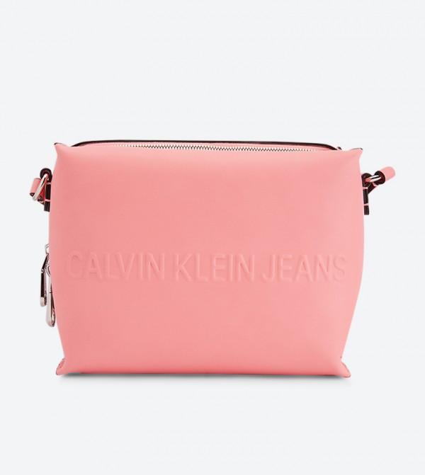 حقيبة للكاميرا بحمالة كتف طويلة لون زهري