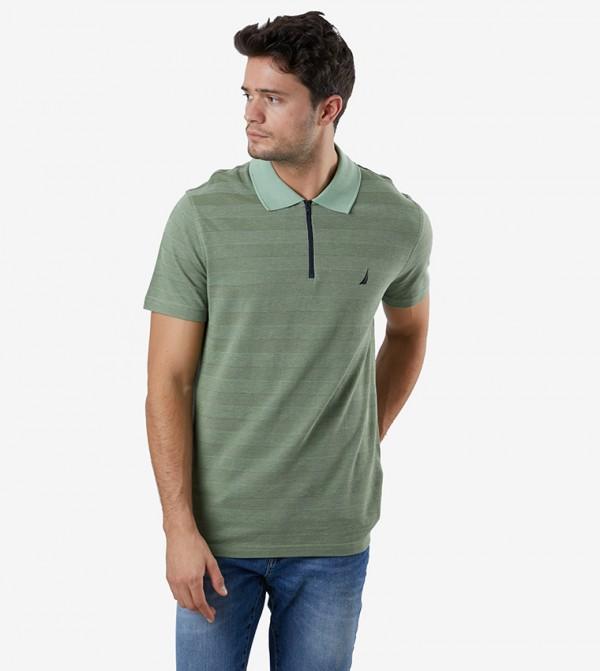 Short Sleeve Polo Neck T-Shirt - Green