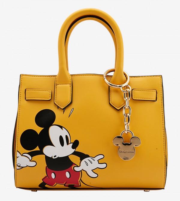 حقيبة يد من مجموعة ديزني بلون أصفر