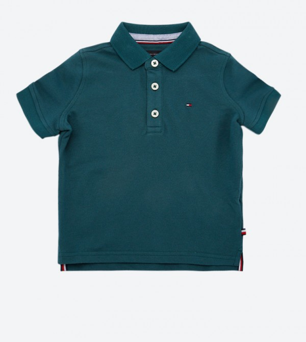 Essential Short Sleeve Classic Collar Polo Shirt - Green
