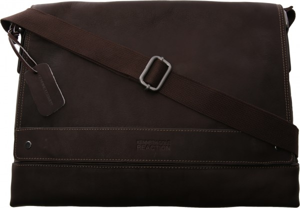 Colombian Leather Collection  Brown Messenger Bag-KC529841