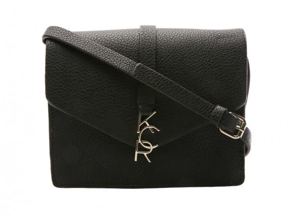 Letterman Black Cross Body Bag