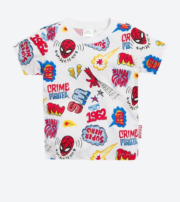 Spider Man Graphic Short Sleeve T-Shirt - White