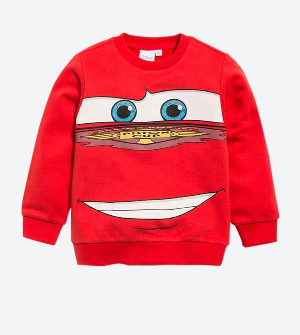 Lightning McQueen Graphic Long Sleeve Sweatshirt - Red