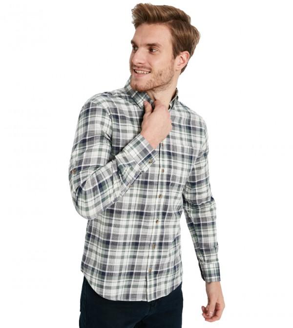 قميص بلوز منسوج بأكمام طويلة