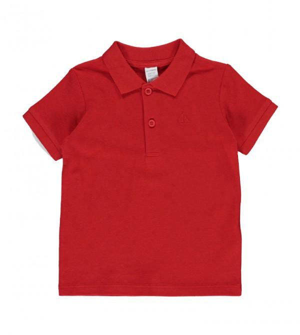تيشيرت جيرسيه بأكمام قصيرة - أحمر