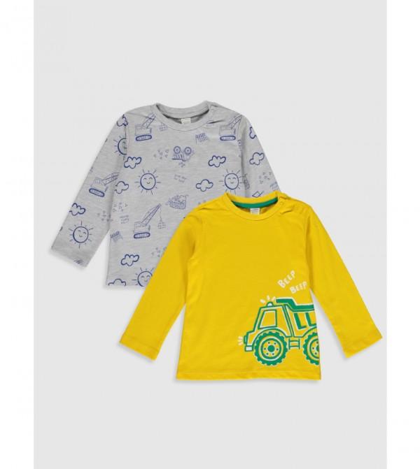 Jersey Body Tshirt Long Sleeves - Yellow