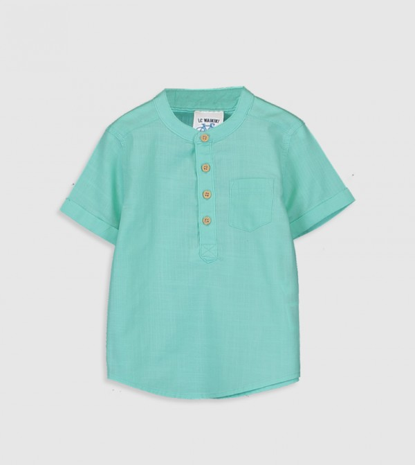 Poplin Shirt-Green