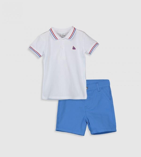 Short Sleeve Standard Thin Set-White