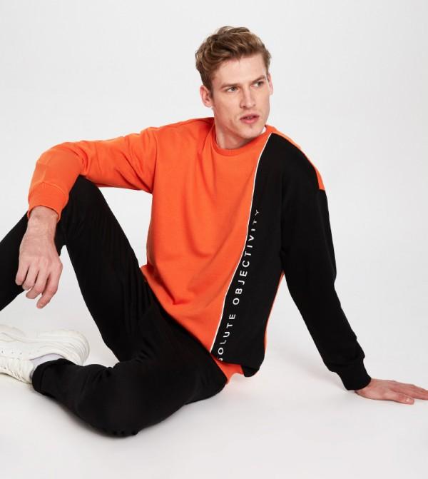 Jersey Sweatshirt - Orange