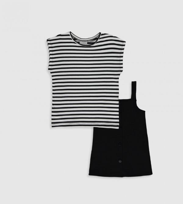 فستان جيرسي بأكمام قصيرة