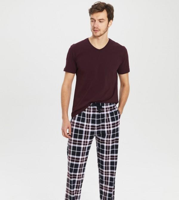 Pyjamas - Bordeaux Printed