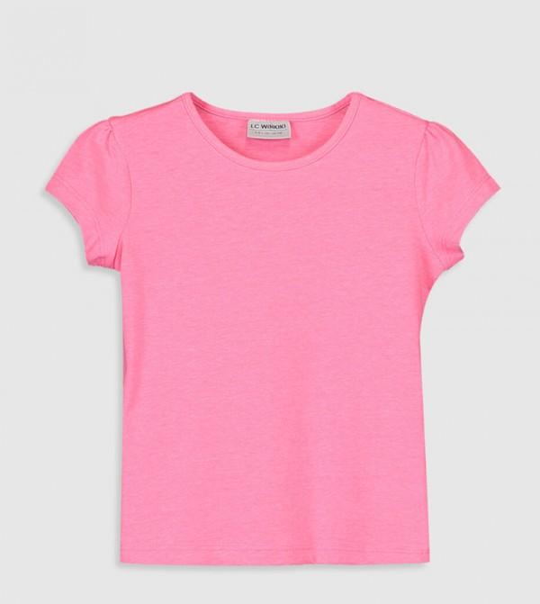 Jersey Body Tshirt Short Sleeves - Neon Pink