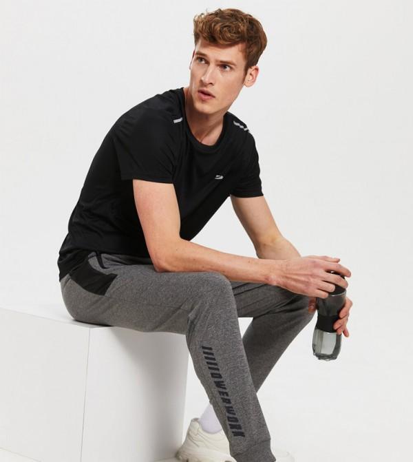 Jersey Trousers Active Sport - Grey Melange