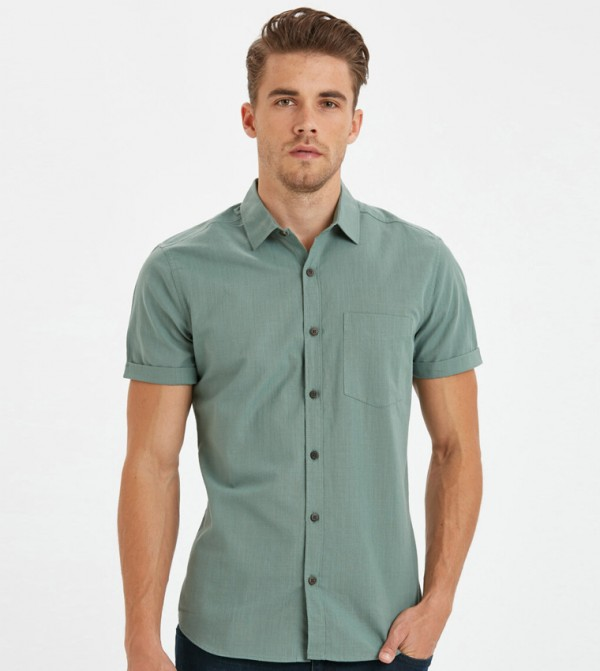 Woven Blouse - Green