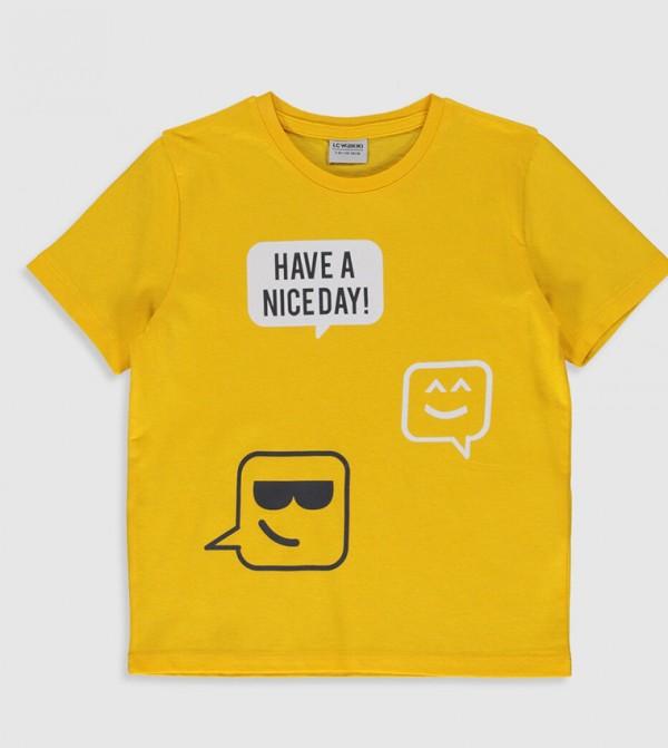 Jersey Body Tshirt Short Sleeves - Mid Yellow